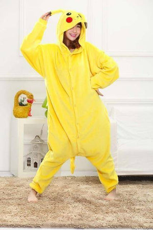 Animal Pajama Onesie  -  Pikachu / S  -  Pajamas  - SNS Outlet