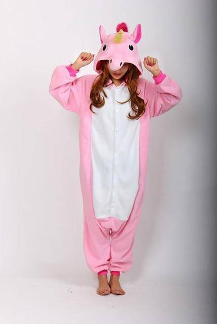 Animal Pajama Onesie  -  Pink tenma unicorn / S  -  Pajamas  - SNS Outlet