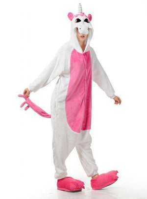 Animal Pajama Onesie  -  Pink unicorn / S  -  Pajamas  - SNS Outlet