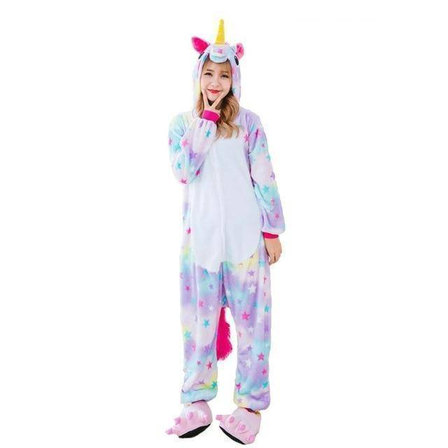 Animal Pajama Onesie  -  Star unicorn / S  -  Pajamas  - SNS Outlet