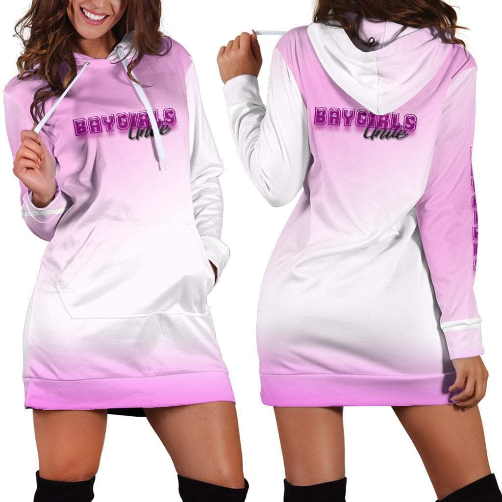 Baygirls Unite Pink Dress Hoodie  -  Women's Hoodie Dress / XS  -  Hoodie Dress  - SNS Outlet