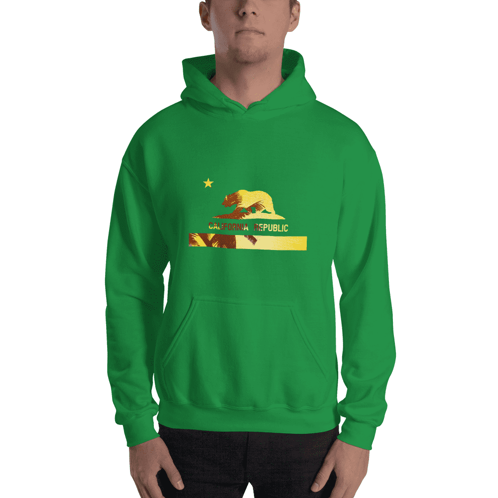 beach-bear-california-hooded-sweatshirt  -  Irish Green / S  -  Hoodie  - SNS Outlet