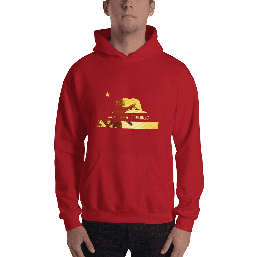 beach-bear-california-hooded-sweatshirt  -  Red / S  -  Hoodie  - SNS Outlet