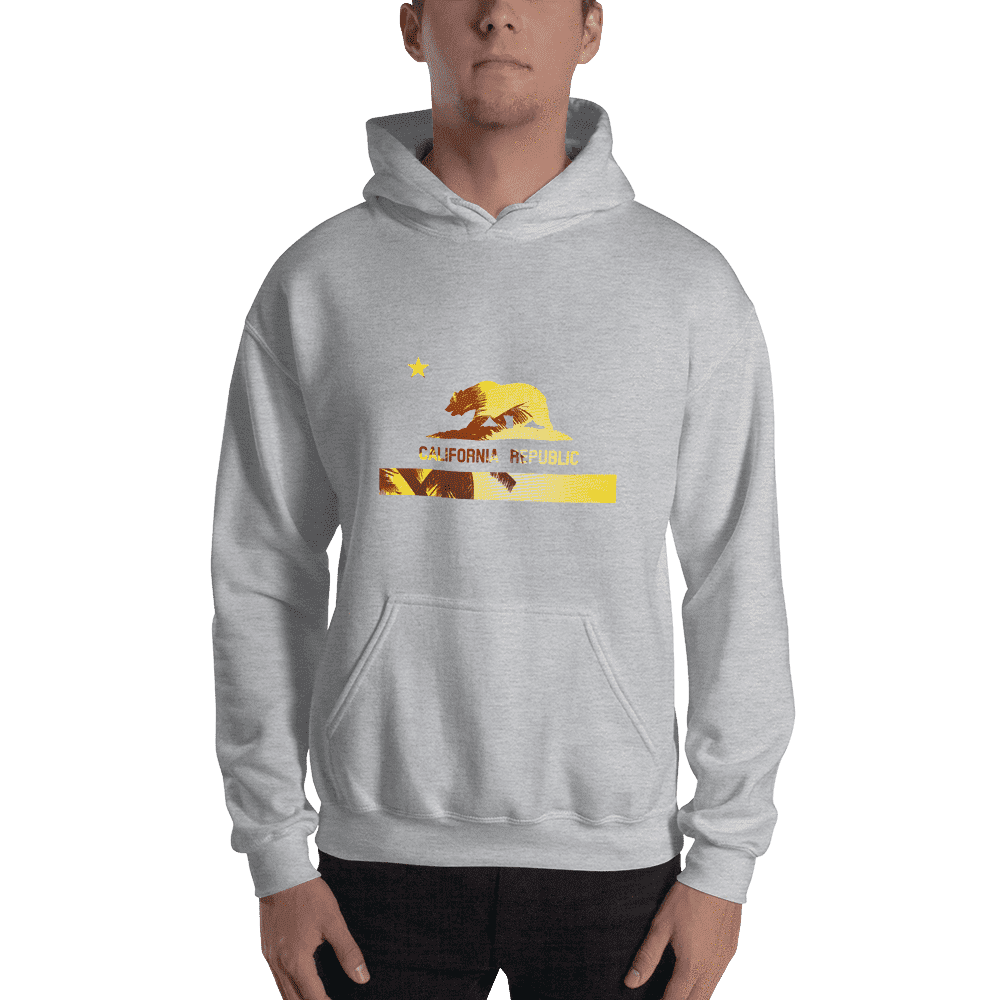 beach-bear-california-hooded-sweatshirt  -  Sport Grey / S  -  Hoodie  - SNS Outlet
