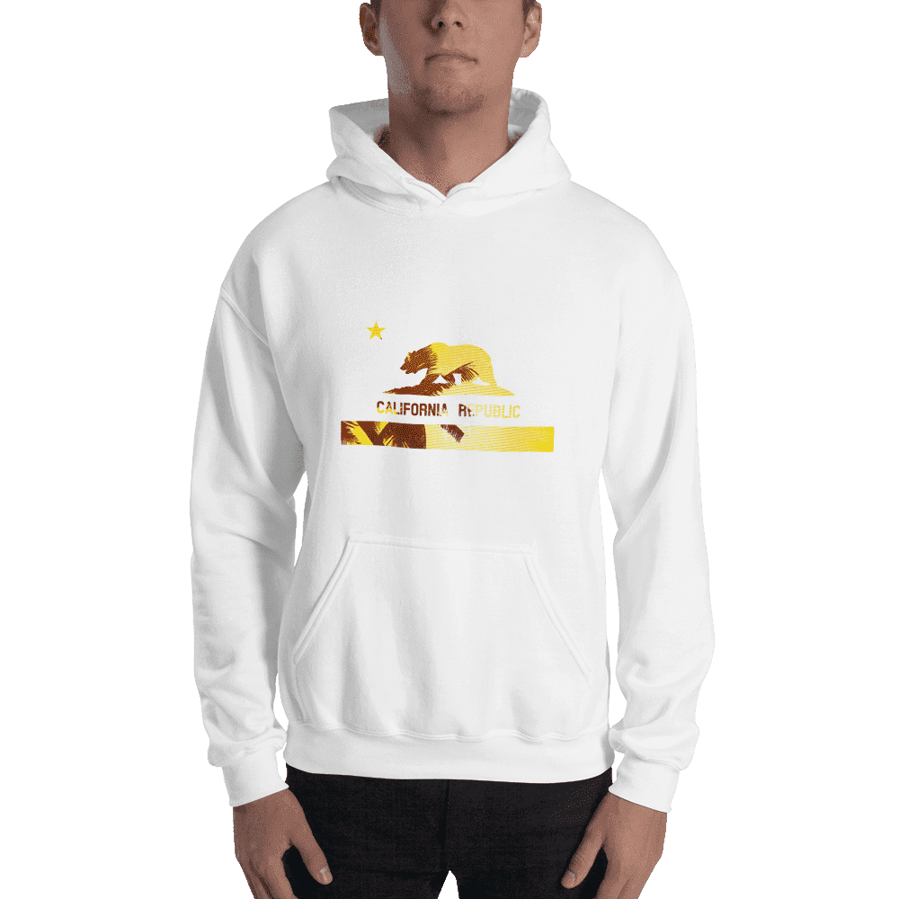 beach-bear-california-hooded-sweatshirt  -  White / S  -  Hoodie  - SNS Outlet