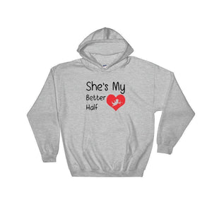 Better Half Men's Hoodie  -  Sport Grey / S  -   - SNS Outlet