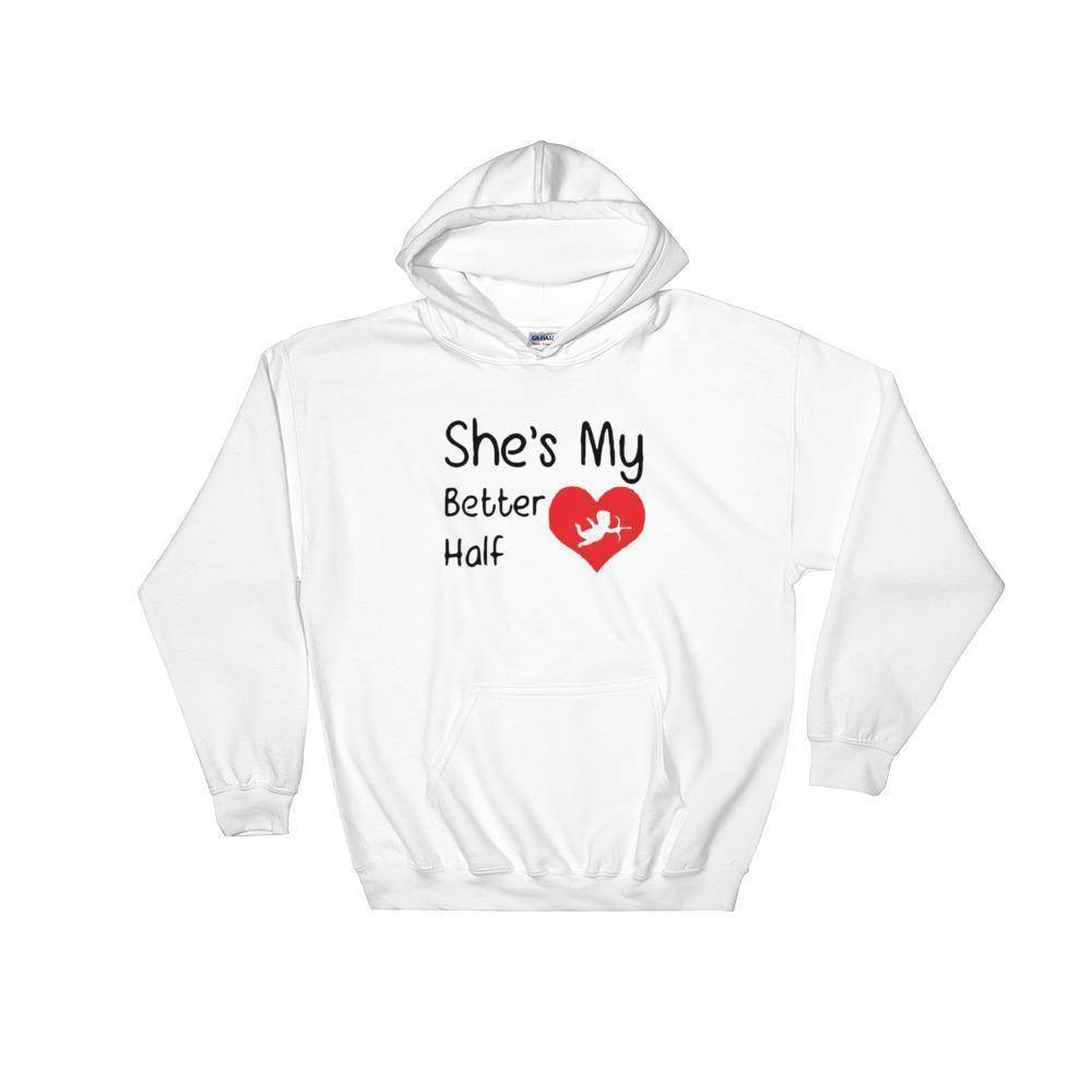 Better Half Men's Hoodie  -  White / S  -   - SNS Outlet