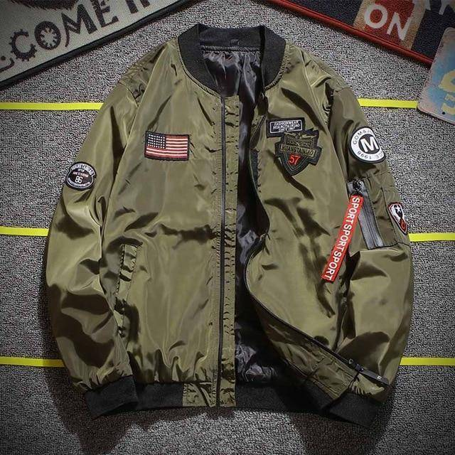 Bomber Jacket  -  Army Greeen / M  -  Jacket  - SNS Outlet