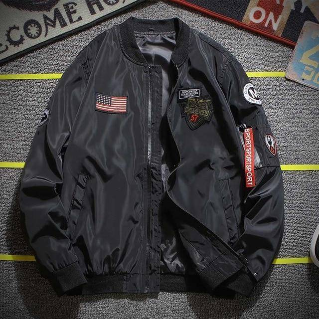 Bomber Jacket  -  Black / M  -  Jacket  - SNS Outlet
