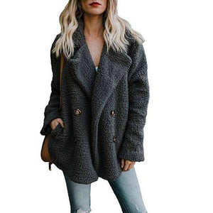 Buttoned Casual Womens Quilted Winter Coat  -  Dark Gray / S  -  Womens Winter Coats  - SNS Outlet