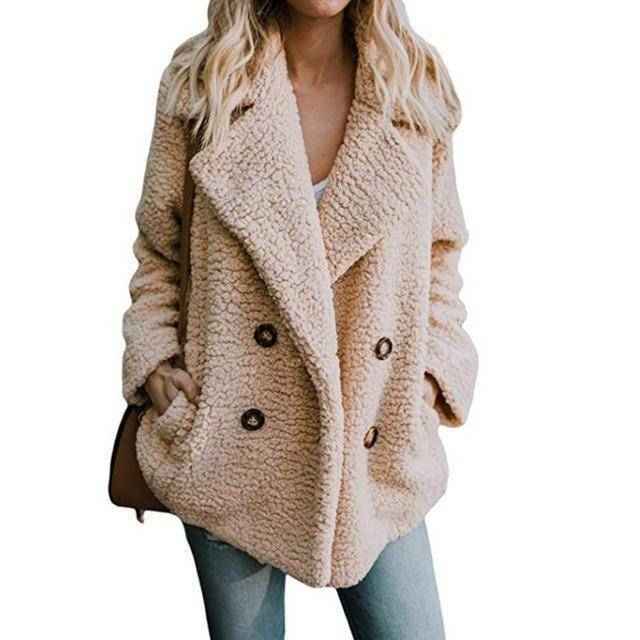 Buttoned Casual Womens Quilted Winter Coat  -  Khaki / S  -  Womens Winter Coats  - SNS Outlet