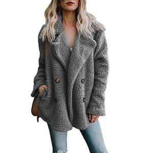 Buttoned Casual Womens Quilted Winter Coat  -  Light Gray / S  -  Womens Winter Coats  - SNS Outlet