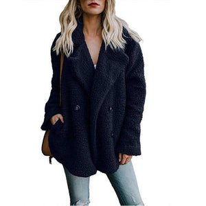 Buttoned Casual Womens Quilted Winter Coat  -  Navy Blue / S  -  Womens Winter Coats  - SNS Outlet