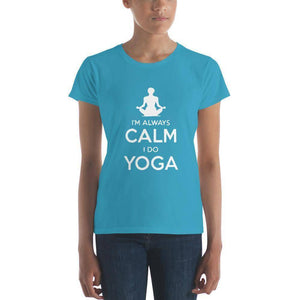 Calm Yoga Women's t-shirt  -  Caribbean Blue / S  -   - SNS Outlet