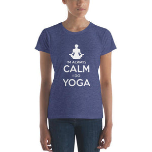 Calm Yoga Women's t-shirt  -  Heather Blue / S  -   - SNS Outlet