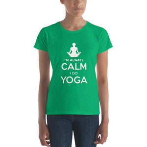 Calm Yoga Women's t-shirt  -  Heather Green / S  -   - SNS Outlet