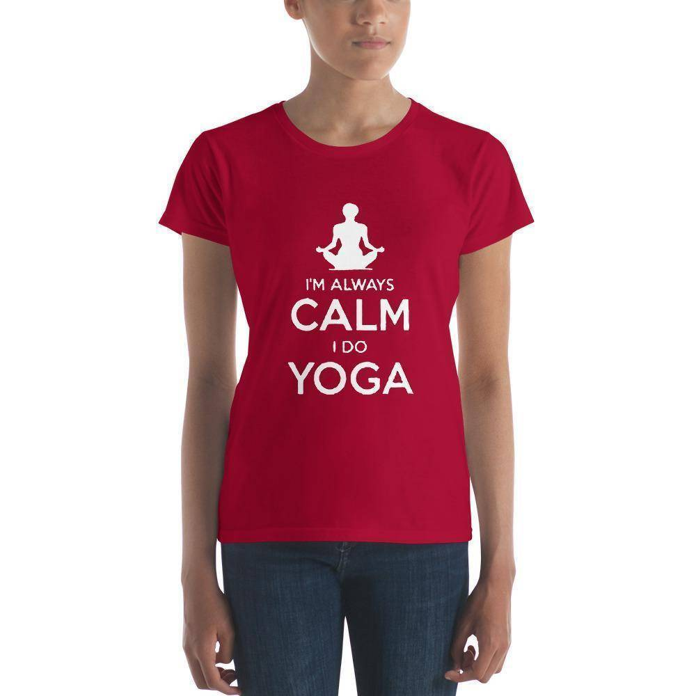Calm Yoga Women's t-shirt  -  Red / S  -   - SNS Outlet