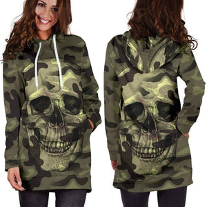 Camouflage Skull Hoodie Dress  -  XS  -  Hidden  - SNS Outlet