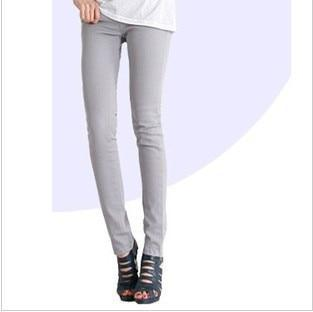 Candy Color Women's Skinny Jeans  -  gray / 26  -  Jeans  - SNS Outlet
