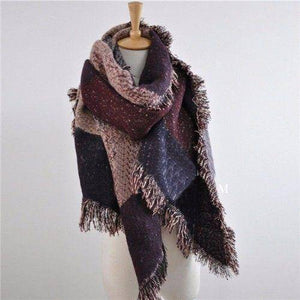 Cashmere Blend Long Scarf  -  Burgundy / One Size  -  Scarf  - SNS Outlet