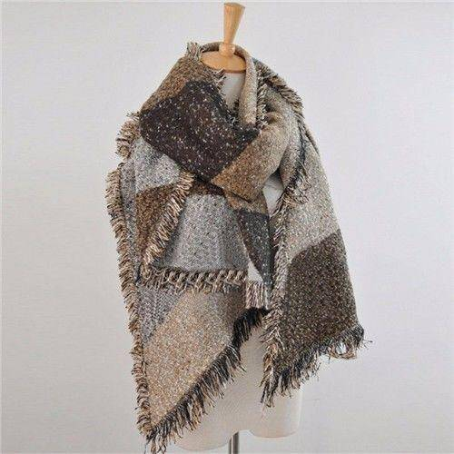 Cashmere Blend Long Scarf  -  Camel / One Size  -  Scarf  - SNS Outlet