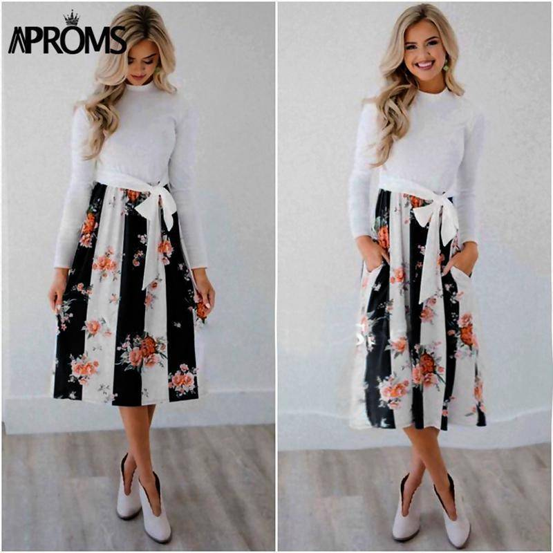 Casual Midi Dresses by Aproms™  -  Black / S  -  Dresses  - SNS Outlet