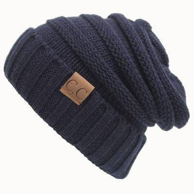 CC Beanies Wool Cap  -  Navy Blue cc beanie / One Size  -   - SNS Outlet