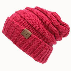 CC Beanies Wool Cap  -  Rose Red cc beanie / One Size  -   - SNS Outlet