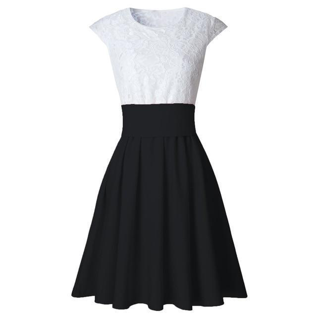 Class Skater Dress By Dante  -  Black / L / United States  -  Dress  - SNS Outlet