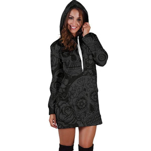 Dark Sugar Skull Hoodie Dress  -  XS  -  Hoodie Dress  - SNS Outlet