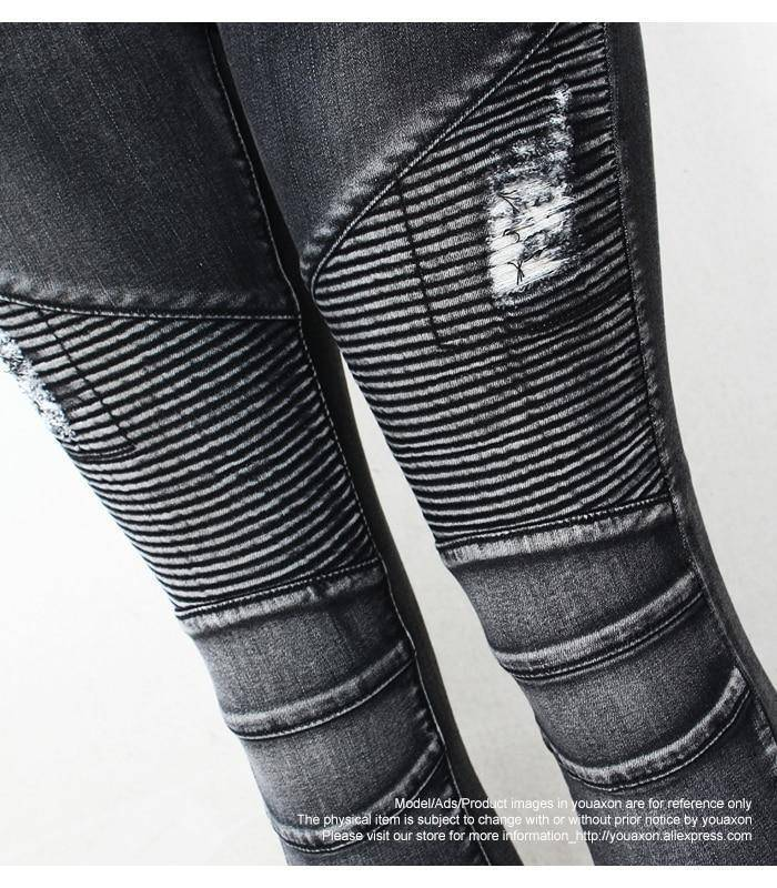 Distress Thrasher Women's Skinny Jeans  -  black / S  -  Jeans  - SNS Outlet