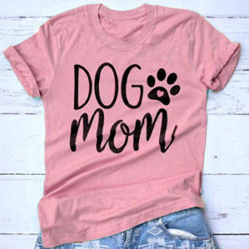 Dog Mom T-shirt  -  pink / L  -  Shirt  - SNS Outlet