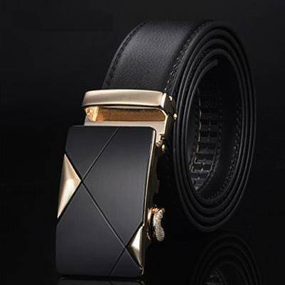 DTWS™ Mens Leather Belt  -  NE304 gold / 105cm 29to31 Inch  -   - SNS Outlet