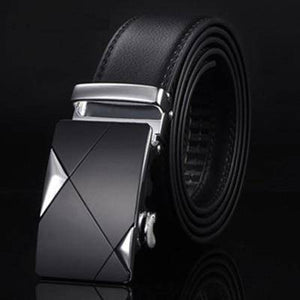 DTWS™ Mens Leather Belt  -  NE304 silvery / 105cm 29to31 Inch  -   - SNS Outlet