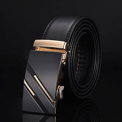 DTWS™ Mens Leather Belt  -  NE305 gold / 105cm 29to31 Inch  -   - SNS Outlet