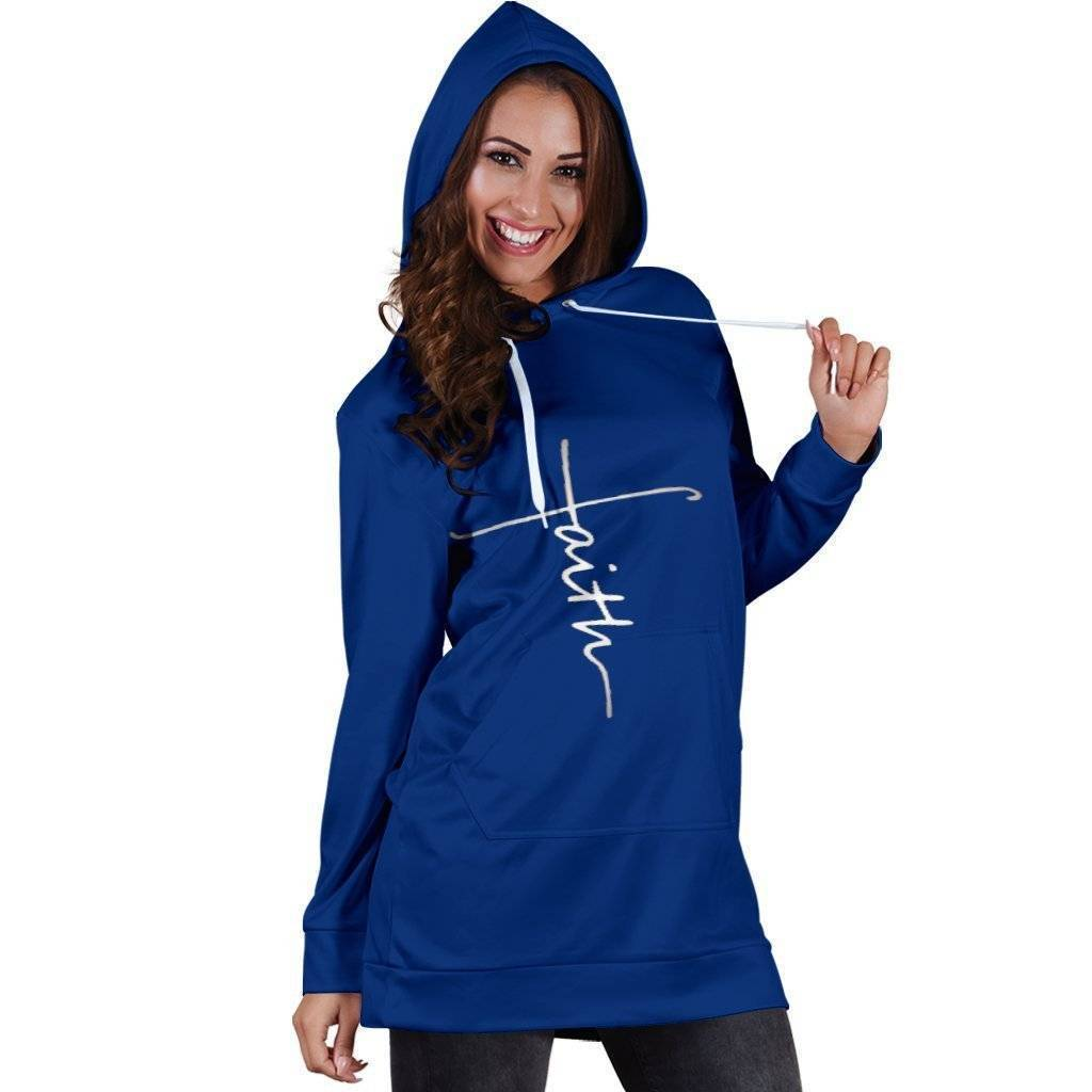 Faith Hooded Dress  -  Women's Hoodie Dress / XS  -   - SNS Outlet