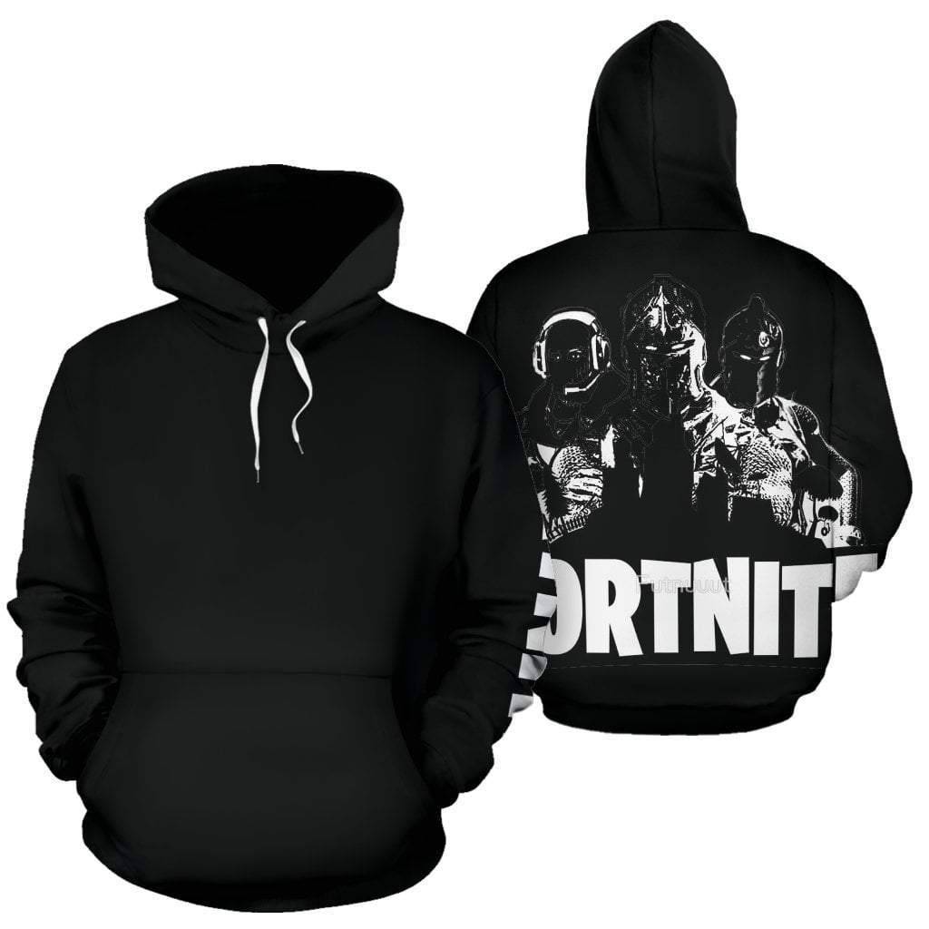 fortnite-black-on-black-hoodie  -  Mens / S  -  Hoodie  - SNS Outlet