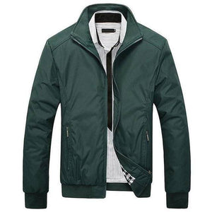 Hard Trader™ Men's Blue Collar Jacket  -  Green / M  -  Jacket  - SNS Outlet