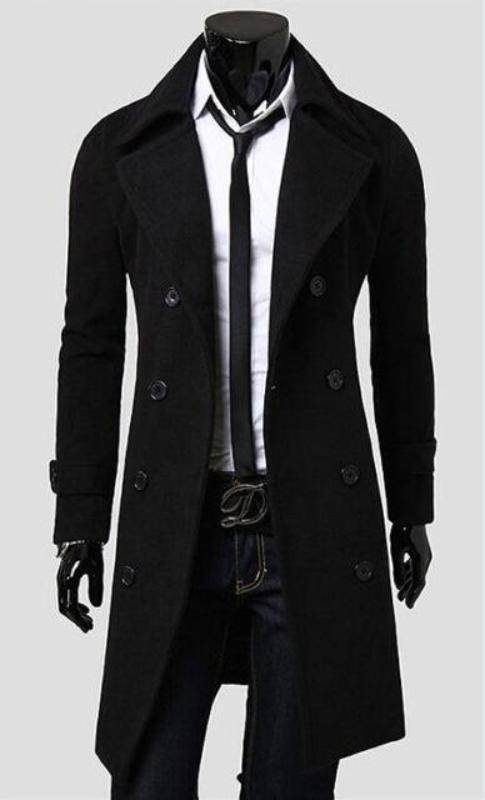 Hard Traders™ Trench Coat  -  Black / M  -  Coat  - SNS Outlet
