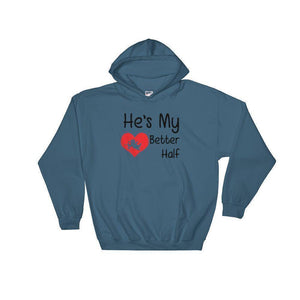 He's My Better Half Women's Hoodie  -  Indigo Blue / S  -   - SNS Outlet