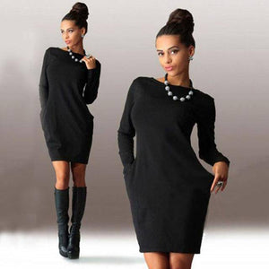 I Am Beauty™ Autumn Dress  (PLUS SIZE UP TO 5X)  -  Black / S  -  Dress  - SNS Outlet