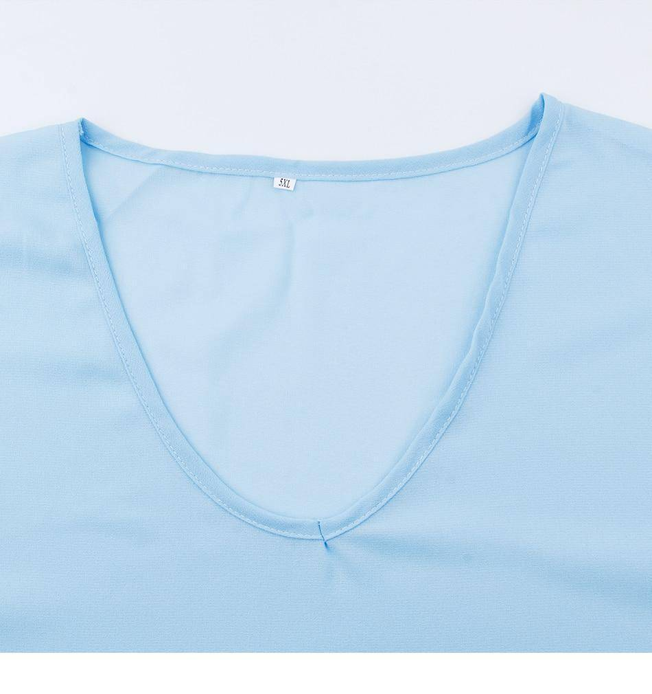 I Am Beauty™ Casual V Neck Mesh - SNS Outlet