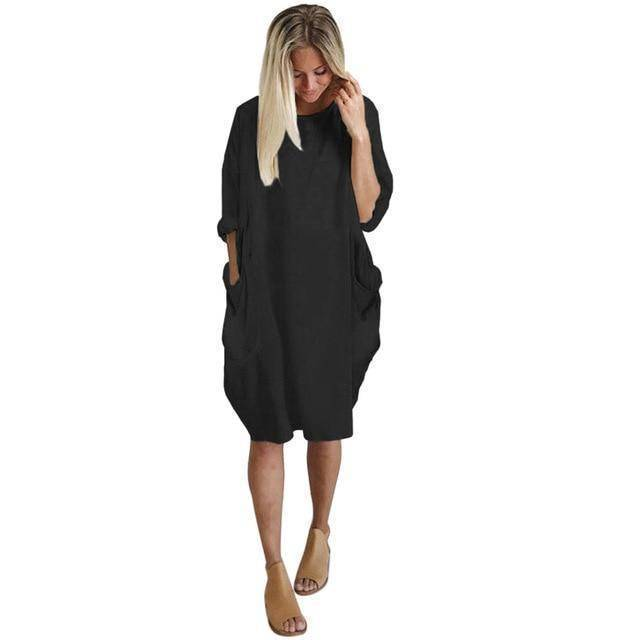 I Am Beauty™ Consumption Dress  -  Black / L  -   - SNS Outlet