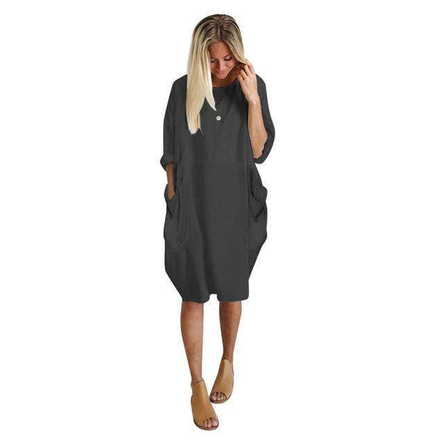 I Am Beauty™ Consumption Dress  -  Gray / L  -   - SNS Outlet