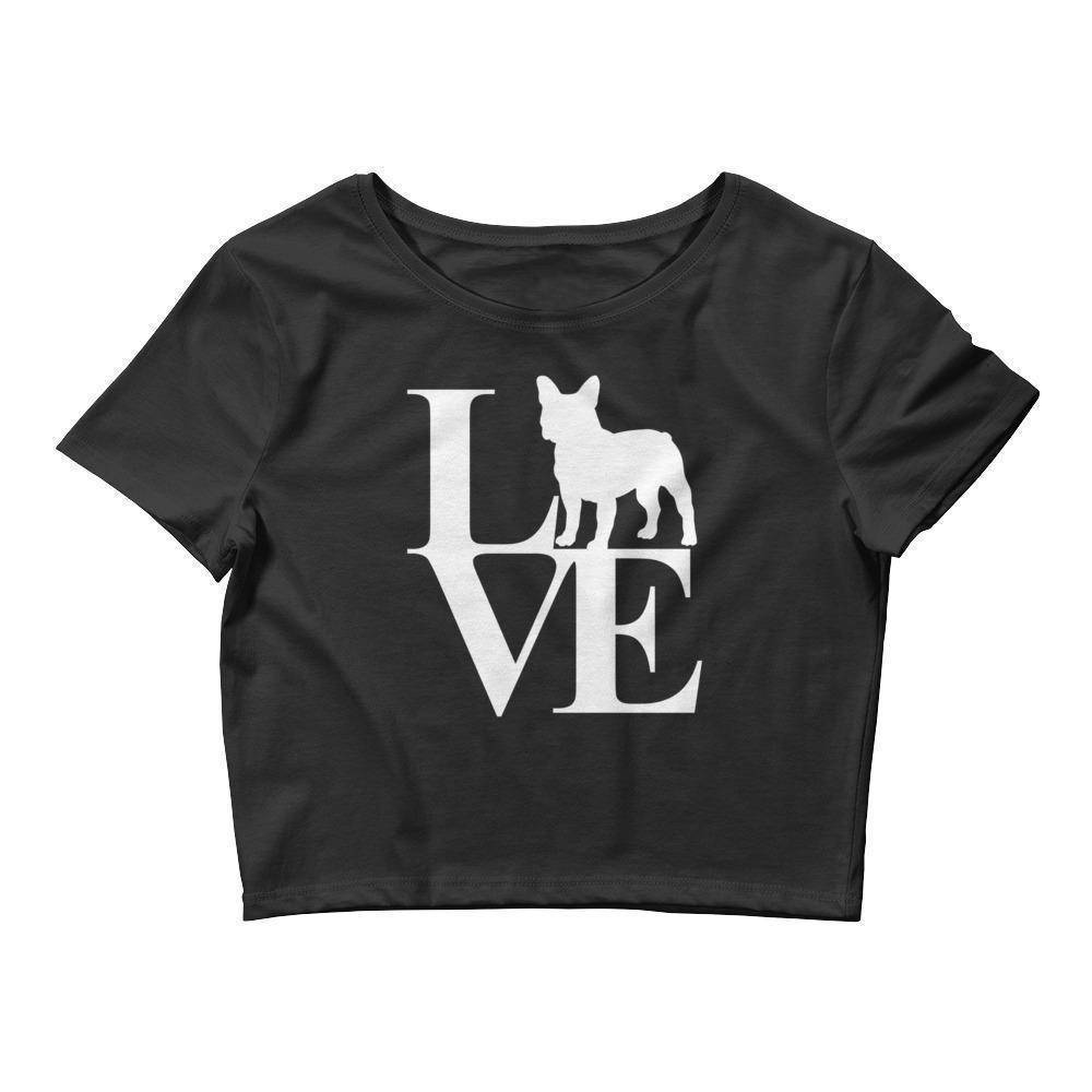 I Love Frenchie Crop Tee  -  M/L  -  Crop Top  - SNS Outlet