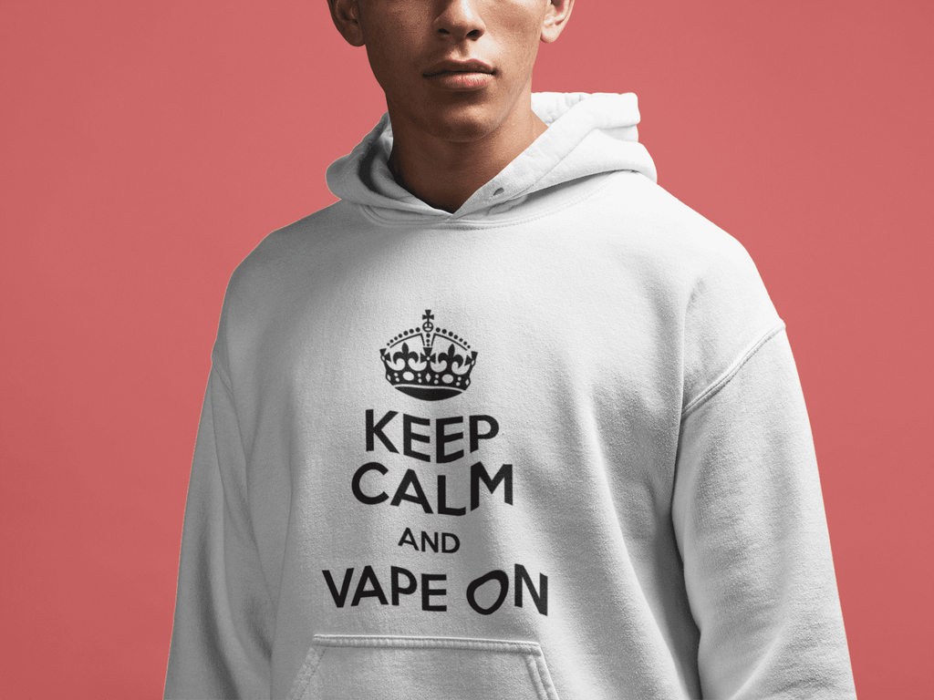 keep-calm-vape-on-hoodie  -  White / S  -  Hoodie  - SNS Outlet