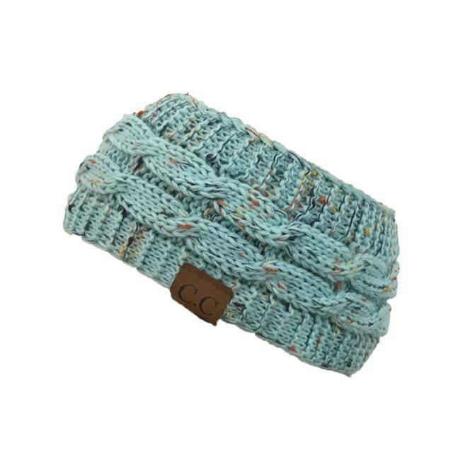 Knitt Multi Color C.C. Half Beanie  -  blue  -   - SNS Outlet