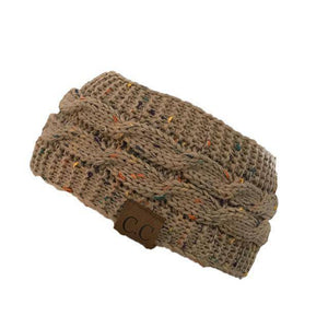 Knitt Multi Color C.C. Half Beanie  -  khaki  -   - SNS Outlet