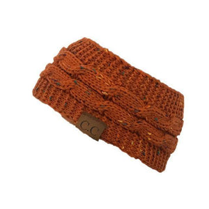 Knitt Multi Color C.C. Half Beanie  -  orange  -   - SNS Outlet