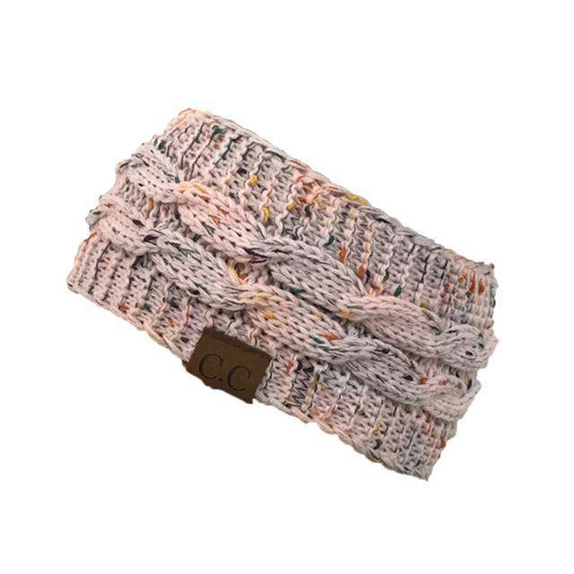 Knitt Multi Color C.C. Half Beanie  -  pink  -   - SNS Outlet